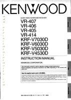 KENWOOD vr407om Operating Manuals