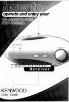 KENWOOD vr4900om Operating Manuals