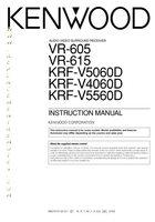 KENWOOD vr605om Operating Manuals