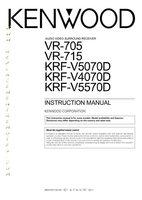 KENWOOD vr705om Operating Manuals