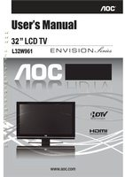 AOC l32w961om Operating Manuals
