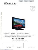 EMERSON lc190em2/lc220em2 Operating Manuals