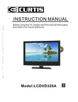 CURTIS lcdvd326aom Operating Manuals