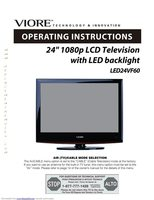 VIORE led24vf60om Operating Manuals