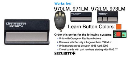 Liftmaster 971LM 390mhz Security Plus Garage Door Opener