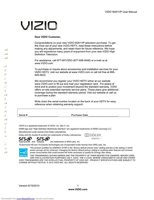VIZIO m261vpom Operating Manuals