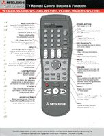 mitsubishi tv remote controls operating manuals mitsubishi remote rh replacementremotes com Toshiba TV Remote Codes List Mitsubishi HD 1080 Projection TV