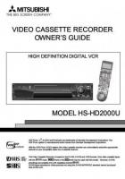 MITSUBISHI hshd2000uom Operating Manuals
