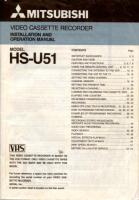 MITSUBISHI hsu51om Operating Manuals