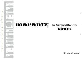 MARANTZ nr1603om Operating Manuals
