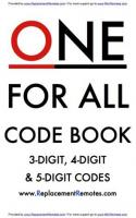 ONE-FOR-ALL One for All CodesOM Operating Manuals