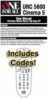 ONE-FOR-ALL urc5600 & codes Operating Manuals