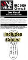 ONE-FOR-ALL urc5650 & codes Operating Manuals