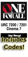ONE-FOR-ALL URC7200/7201 & Codes Operating Manuals