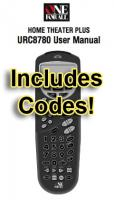 ONE-FOR-ALL URC8780 & Codes Operating Manuals