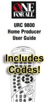 ONE-FOR-ALL URC9800 & Codes Operating Manuals