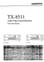 ONKYO tx8511om Operating Manuals