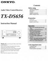 ONKYO txds656om Operating Manuals
