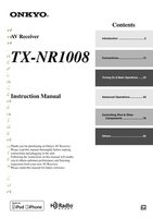ONKYO txnr1008om Operating Manuals