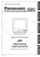 Panasonic ag513com Operating Manuals
