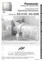 Panasonic ag513eom Operating Manuals