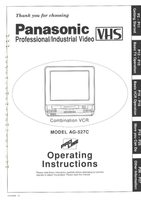 Panasonic ag527com Operating Manuals
