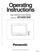 Panasonic ath3015wom Operating Manuals
