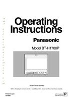 Panasonic bth1700om Operating Manuals