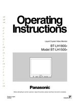 Panasonic btlh1500om Operating Manuals