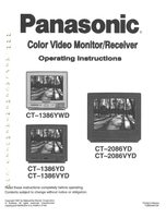 Panasonic ct1386ydom Operating Manuals