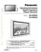 Panasonic TH37PD25OM Operating Manuals