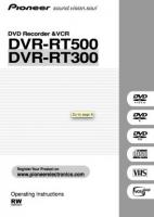 PIONEER dvrrt500om Operating Manuals