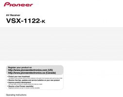 PIONEER VSX1122KOM Operating Manuals