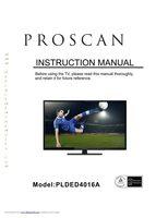 Proscan plded4016aom Operating Manuals