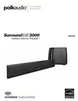 polkaudio SURROUNDBAR3000OM Operating Manuals