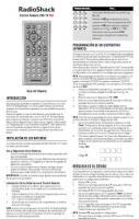 RadioShack 152148om Operating Manuals