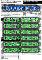 CRK SERIES CODES BOOK ONLYOM P/N: CRK_CODES_OM