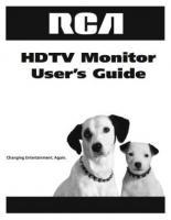 RCA d52w20om Operating Manuals