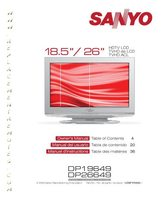 SANYO dp26649om Operating Manuals