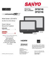 SANYO dp26746om Operating Manuals