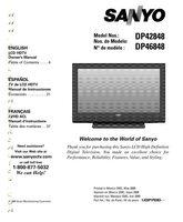 SANYO dp42848om Operating Manuals