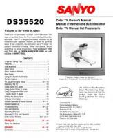 SANYO ds35520om Operating Manuals