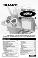SHARP 36c530om Operating Manuals