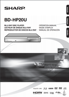 SHARP bdhp21uom Operating Manuals