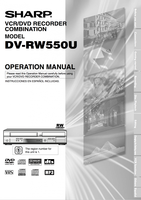 SHARP dvrw550om Operating Manuals