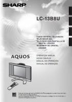 SHARP lc13b8uom Operating Manuals