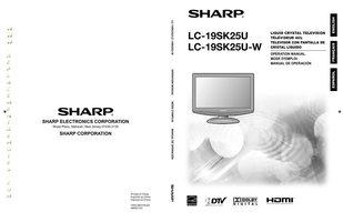 SHARP LC19SK25UOM Operating Manuals