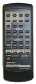 SHARP rrmcg0181awsa Remote Controls
