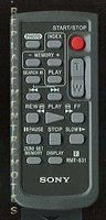 SONY rmt831 Remote Controls