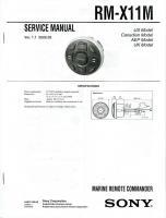 SONY rmx11mom Operating Manuals